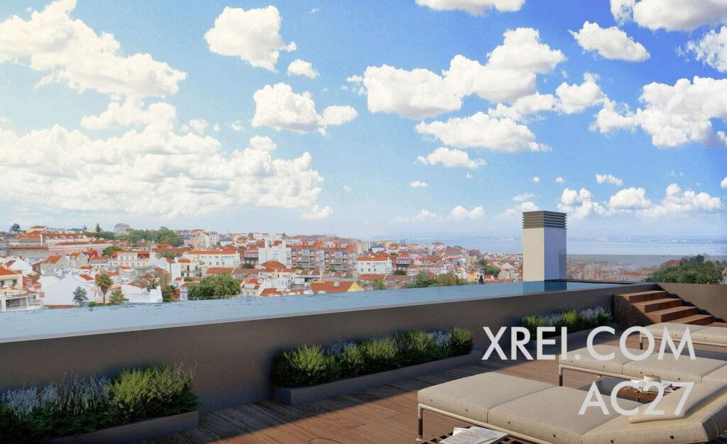 AC27, apartamentos nuevos a la venta en edificio residencial con piscina situado en Campo de Ourique • Lisboa, Portugal