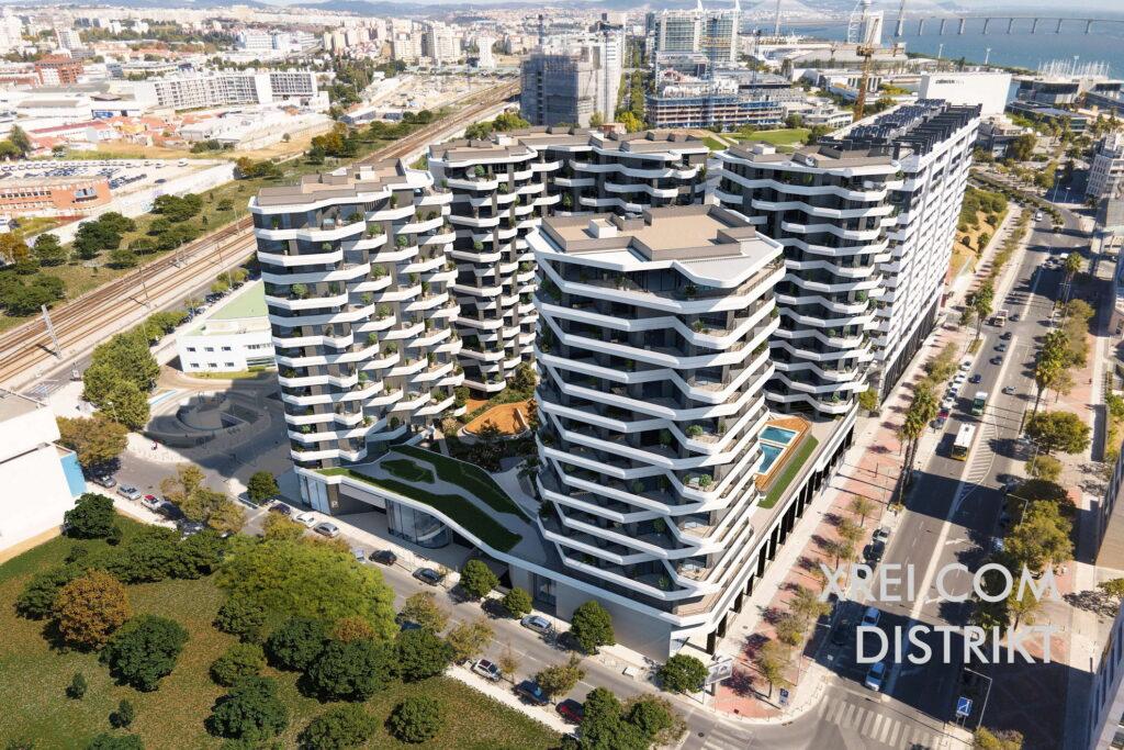DISTRIKT, nuevos apartamentos a la venta en un edificio residencial con piscina situado en el Parque das Nações • Lisboa, Portugal