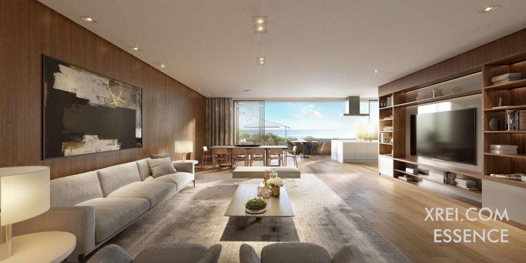 Essence, nuevos apartamentos a la venta en un edificio residencial con piscina situado en Estoril • Cascais, Portugal