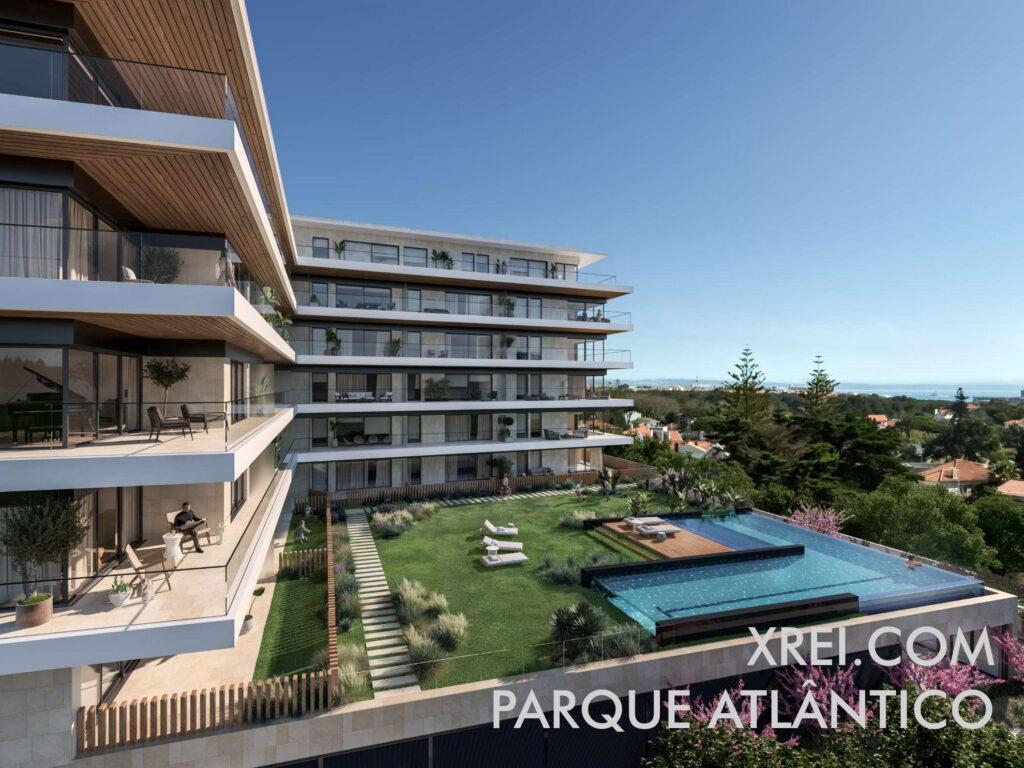 Parque Atlântico, nuevos apartamentos en venta en edificio residencial con piscina situado en Parede • Cascais, Portugal