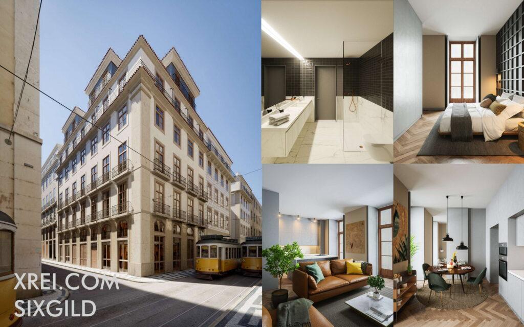 SixGild, nuevos apartamentos a la venta en edificio residencial ubicado en Baixa • Lisboa, Portugal
