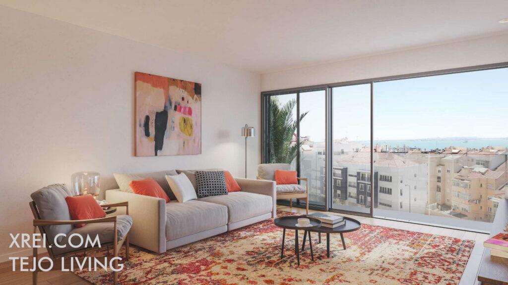 Tejo Living, nuevos apartamentos en venta en edificio residencial ubicado en São Vicente • Lisboa, Portugal