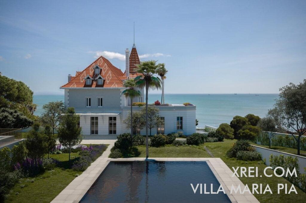 Villa Maria Pia, nuevos apartamentos a la venta en un edificio residencial con piscina situado en Monte Estoril • Cascais, Portugal