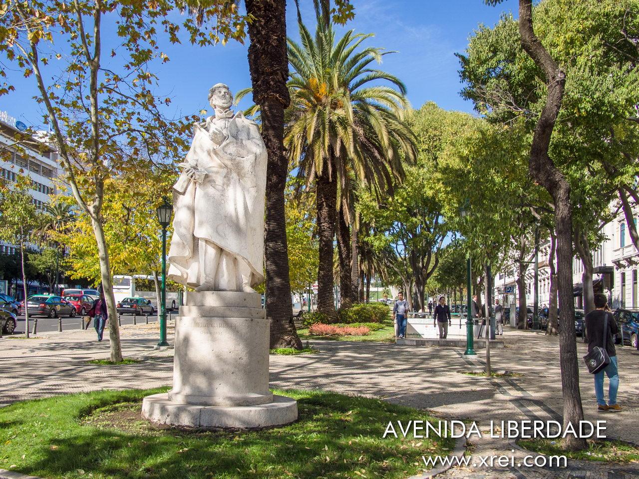 Almeida Garrett Statue