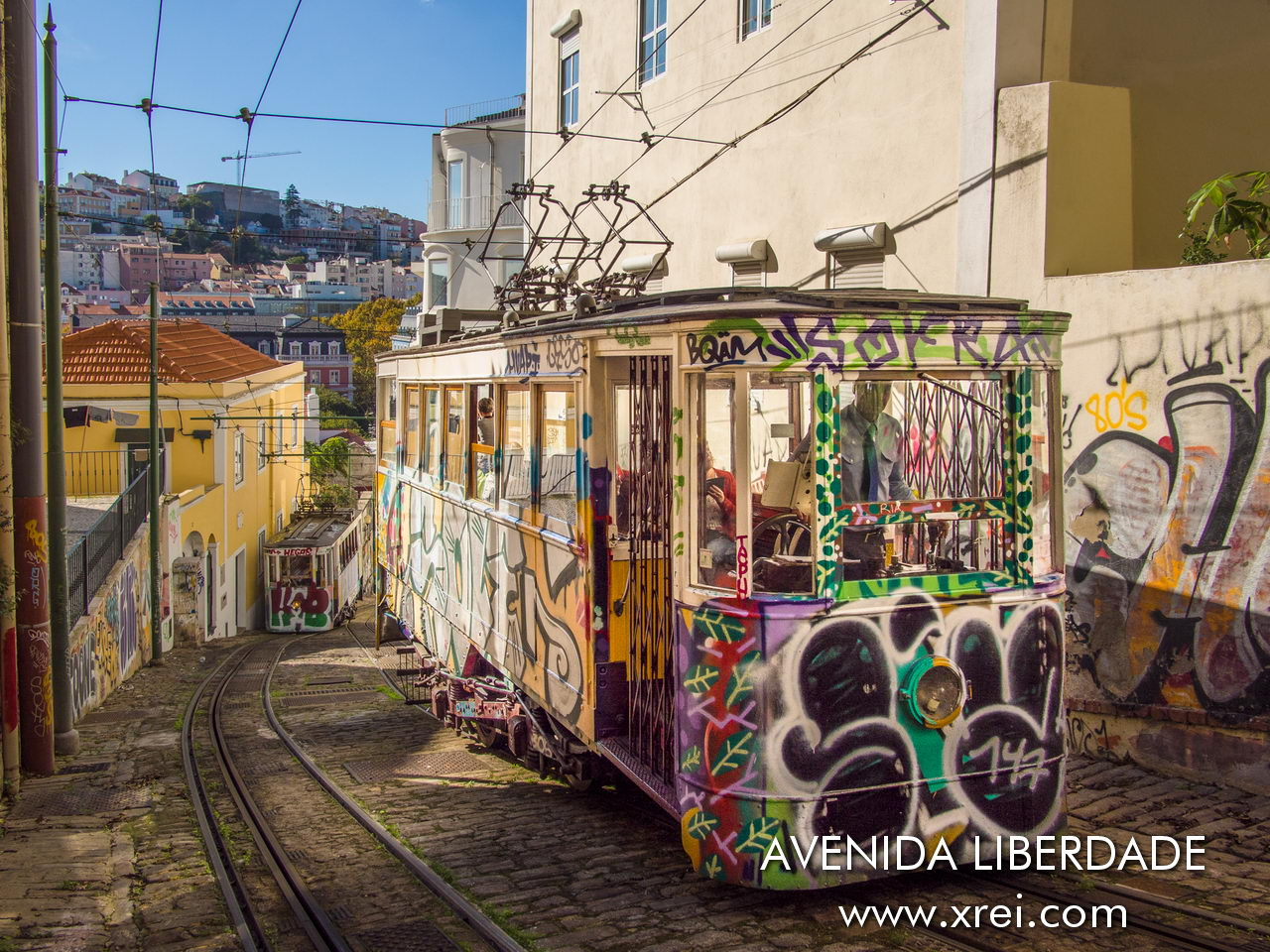 Ascensor do Lavra is the oldest elevator in Lisbon, with connection between Largo da Anunciada and Rua Câmara Pestana, opened in 1884