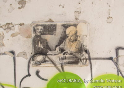 Mr. Artru, Zé Moreira and Mr. Carlos playing dominoes, by Camilla Watson