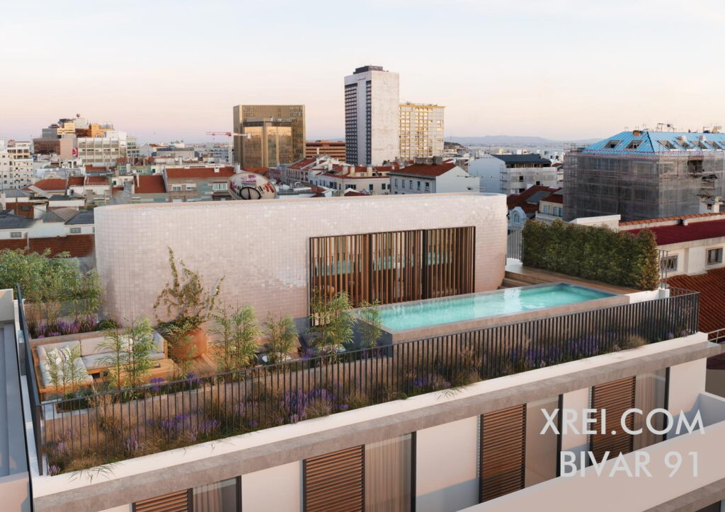 Bivar 91, new apartments for sale in a residential building with swimming pool located in Avenidas Novas • Lisbon, Portugal
