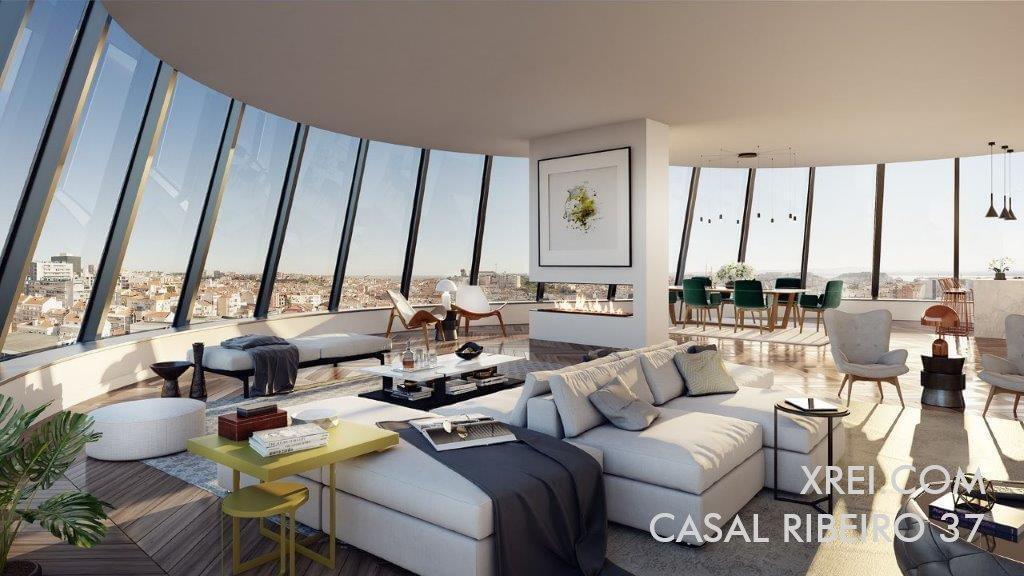 Casal Ribeiro 37, nuevos apartamentos en venta en edificio residencial con piscina situado en Saldanha • Lisboa, Portugal