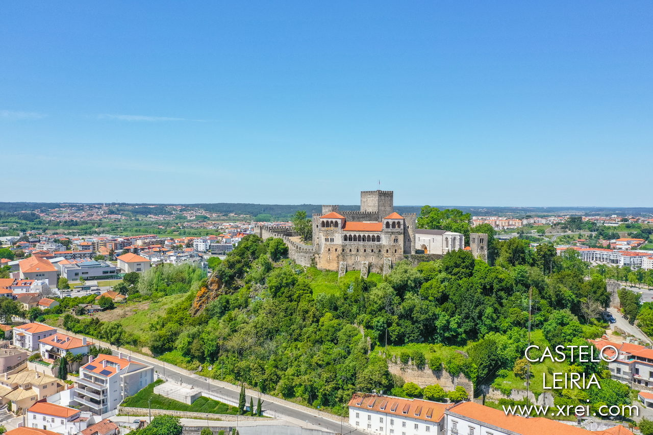 Leiria Castle, located in an imposing position over the city