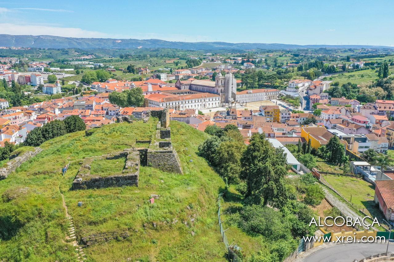 Alcobaça city, with the Alcobaça monastery seen from the ruins of Alcobaça castle