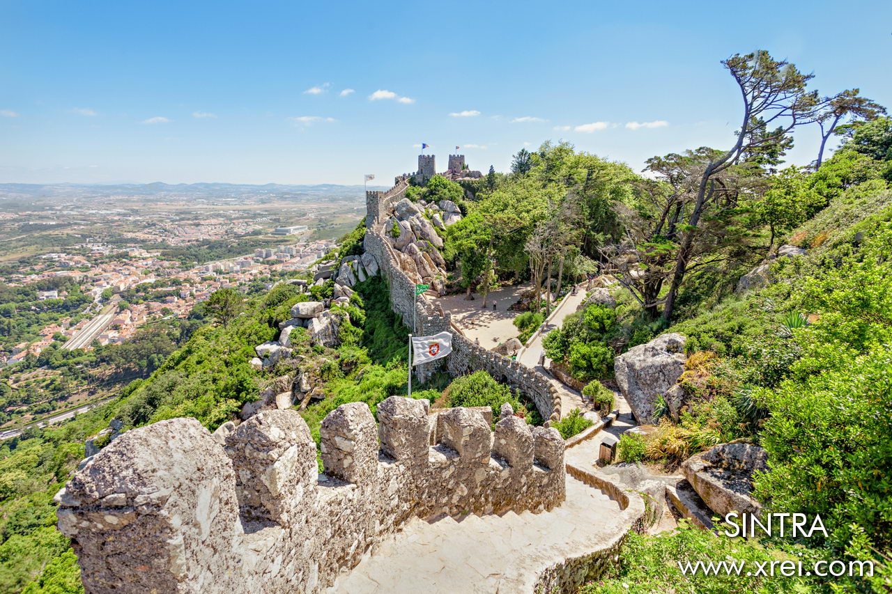 Castelo dos Mouros is the oldest military structure in Sintra, built in the 10th century during the Muslim occupation in Portugal