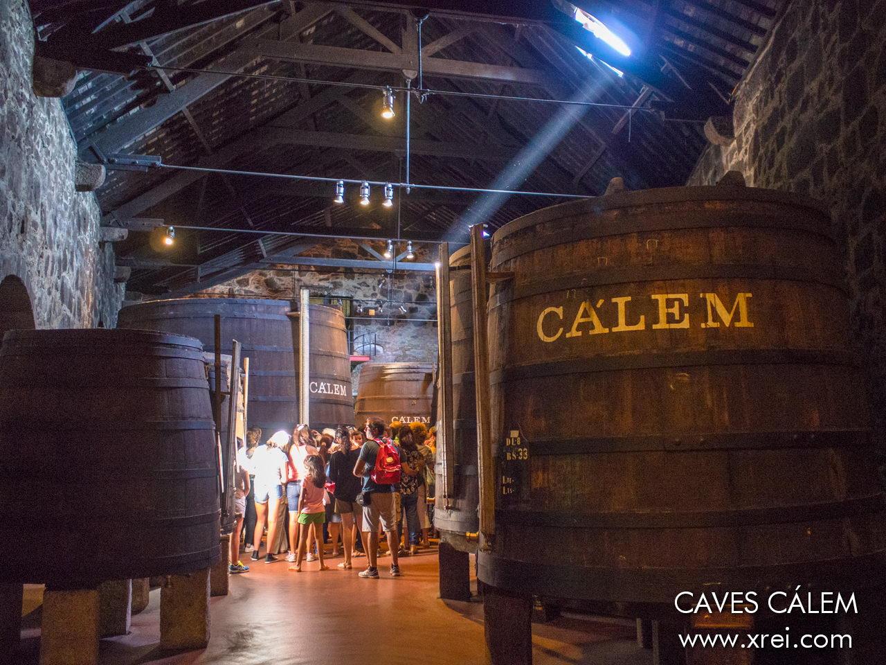 Visita a las bodegas de vino de Oporto CEMAL, con silos de vino tradicionales construidos en madera natural.