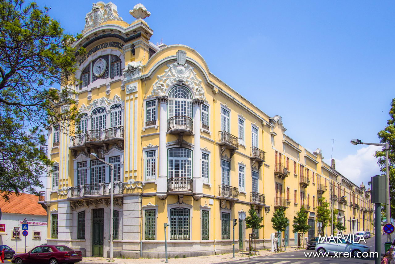 The old buildings with cared-for building facades