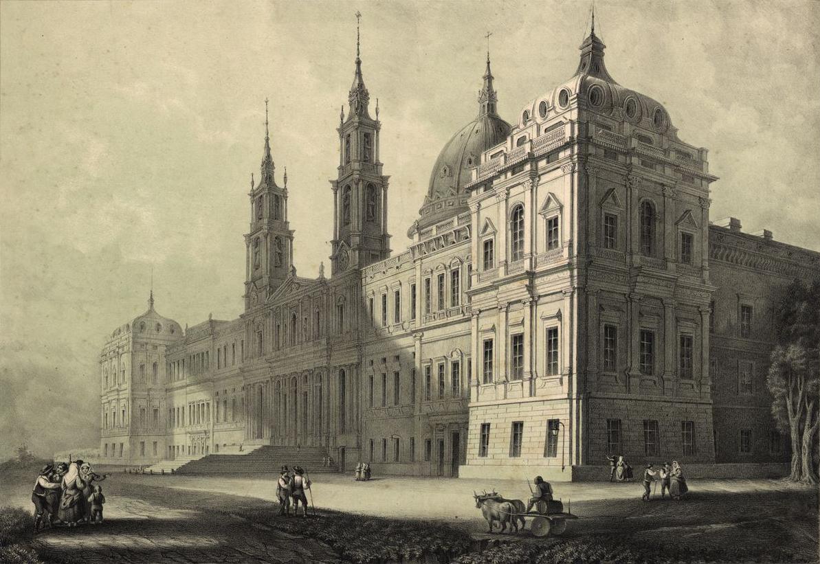 Mafra National Palace, 1853 lithography