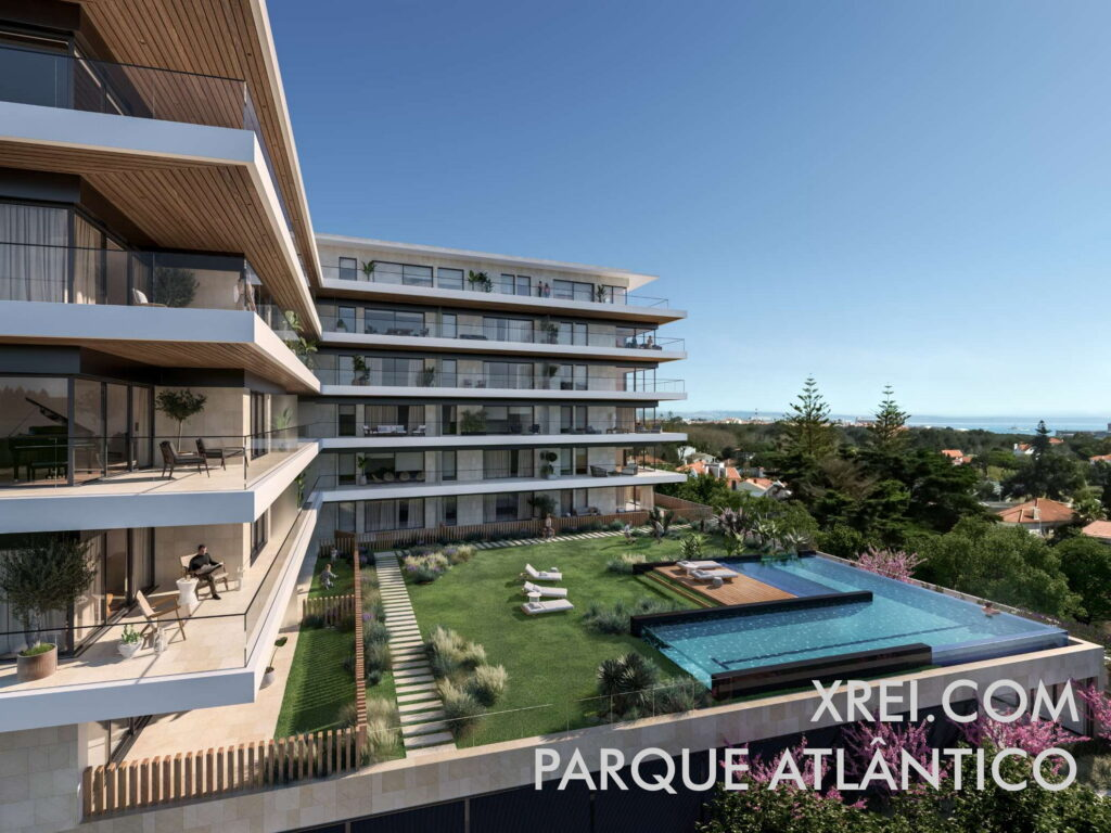 Parque Atlântico, new apartments for sale in a residential building with swimming pool located in Parede • Cascais, Portugal