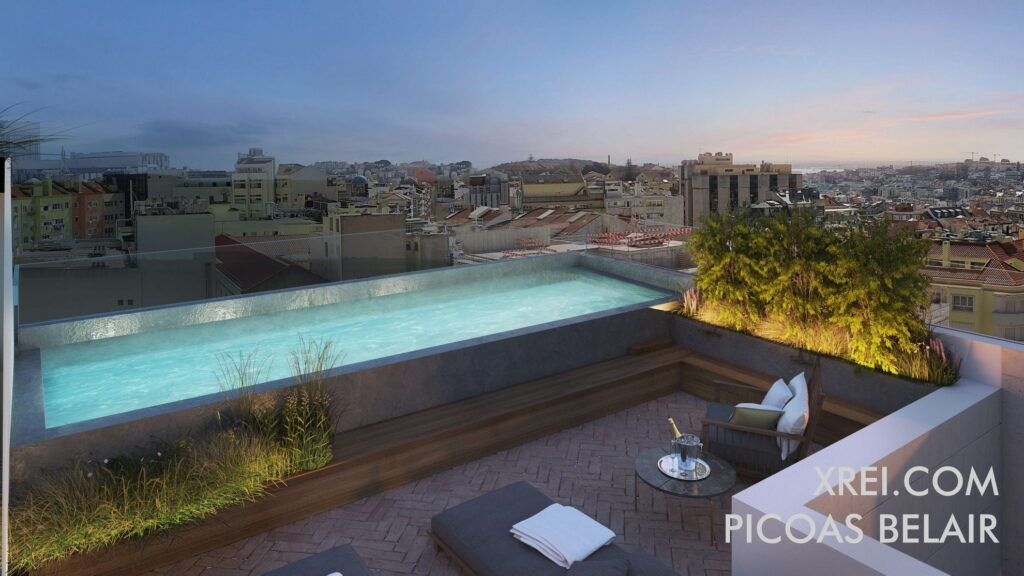 Picoas Belair, new apartments for sale in a residential building with swimming pool located in Avenidas Novas • Lisbon, Portugal